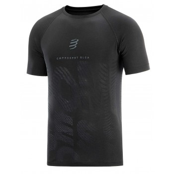 COMPRESSPORT TRAINING SHIRT BLACK EDITION FOR MEN'S