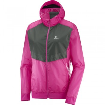 SALOMON LIGHTNING AERO FZ HOODIE JACKET FOR WOMEN'S
