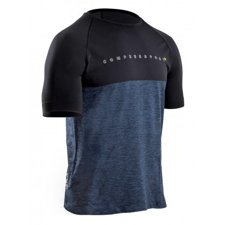 COMPRESSPORT TRAINING SHIRT BLACK EDITION 10 FOR MEN'S
