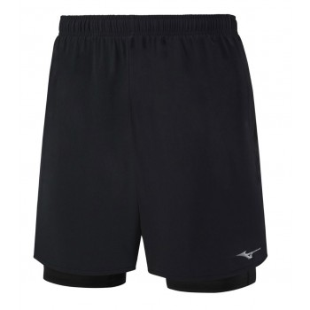 MIZUNO ALPHA 2 IN 1 7.5 SHORT FOR MEN'S