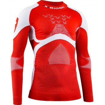 X-BIONIC ACCUMULATOR 4.0 SWISS PATRIOT LONG SLEEVE SHIRT TURTLE NECK FOR MEN'S
