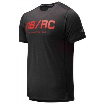 NEW BALANCE IMPACT PRINTED SHORT SLEEVE SHIRT FOR MEN'S