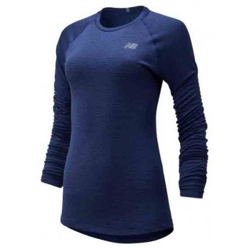 NEW BALANCE HEAT GRID CREW LONG SLEEVE SHIRT FOR WOMEN'S